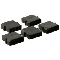 Pack of 5 Male 4 Pin Black Molex Connectors With Crimps